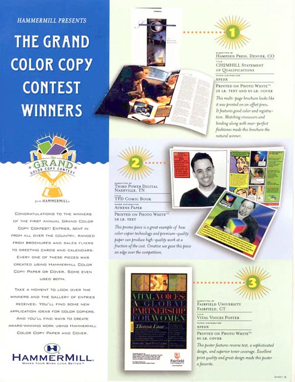 Hampden Press wins 1st place in Hammermill Papers nationwide contest