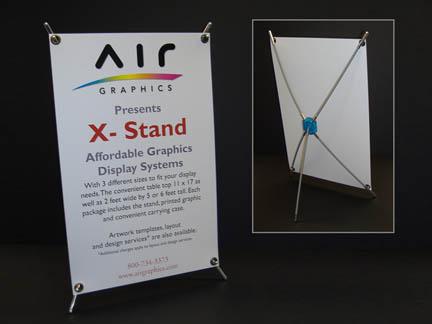 Mini X banner Stand