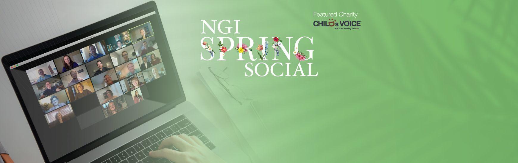NGI Spring Social featuring Child's Voice, April 22, 5:30-7:00 p.m.