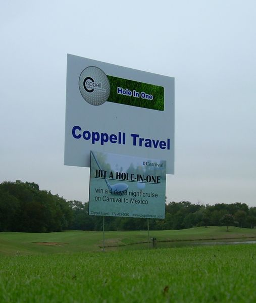 Coppell Travel Yard Sign