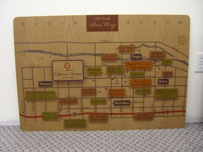 Map Printed on Wood