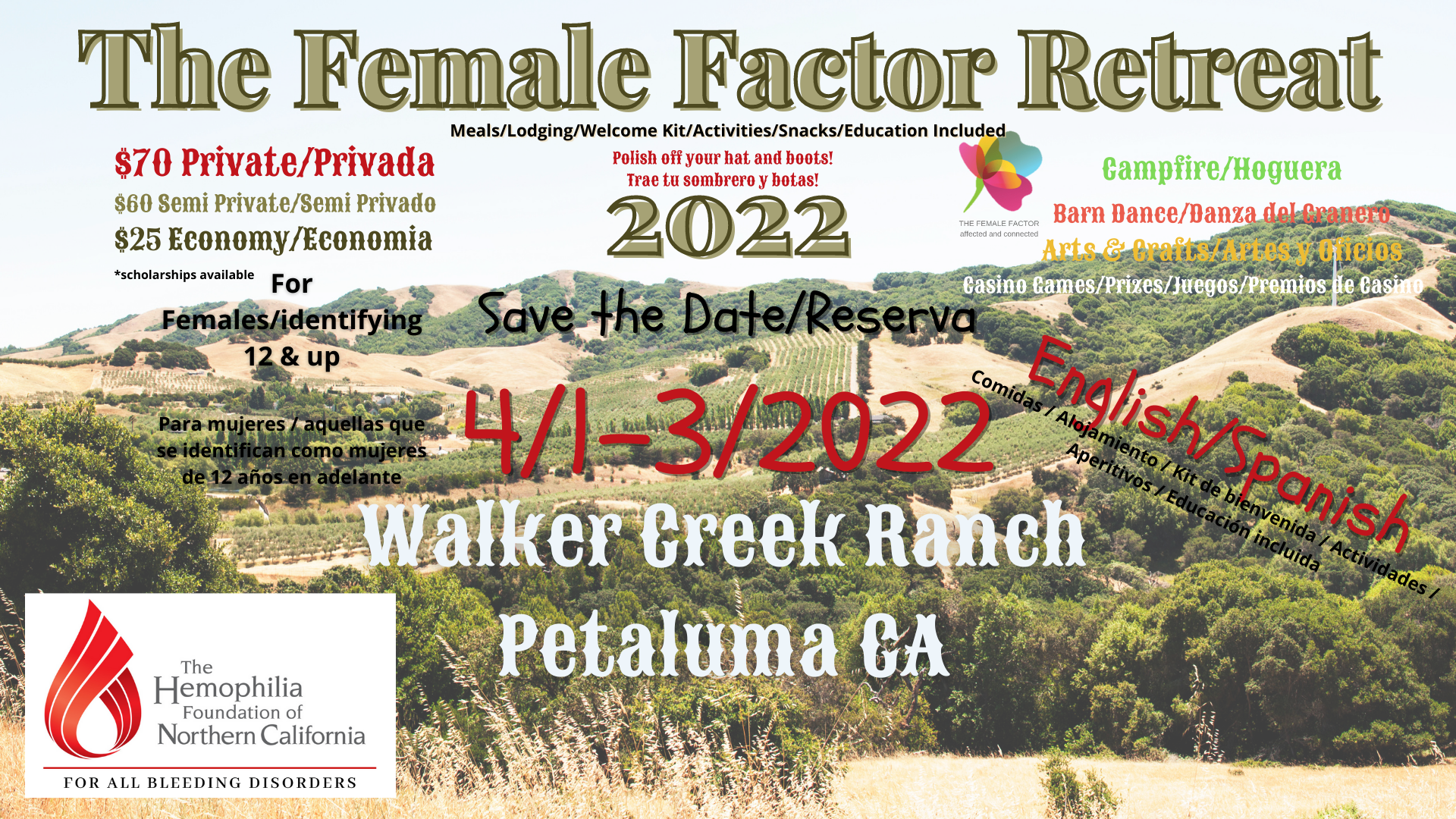 The Female Factor Retreat 2022 Walker Creek Ranch Petaluma California