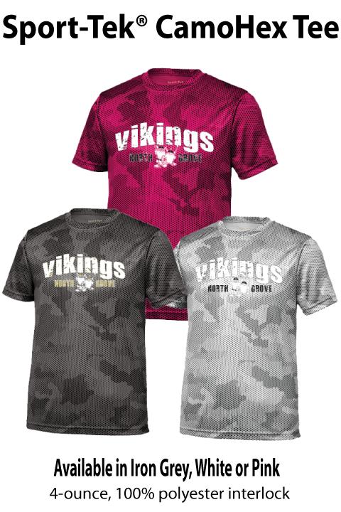 Vikings - CamoHex Short-sleeve Tee