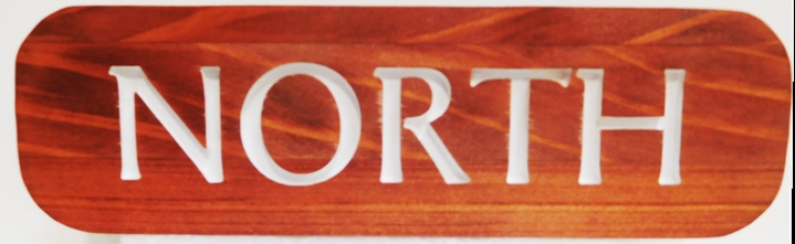 T29433 - Carved and Engraved Area Identification Sign for a Hotel Complex, Western Red Cedar Wood