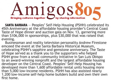 Peoples' Self-Help Housing (PSHH) celebrated its 45th Anniversary - Amigos 805