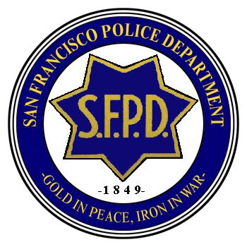 X33702 - San Francisco Police Dept Seal Carved Wood Plaque