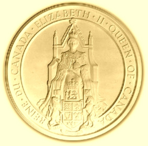 M2115 - Carved  Great Seal of Canada, Gold-Leaf Gilded