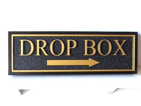 KA20562 - Carved Wood Sign for  Rent Drop Box