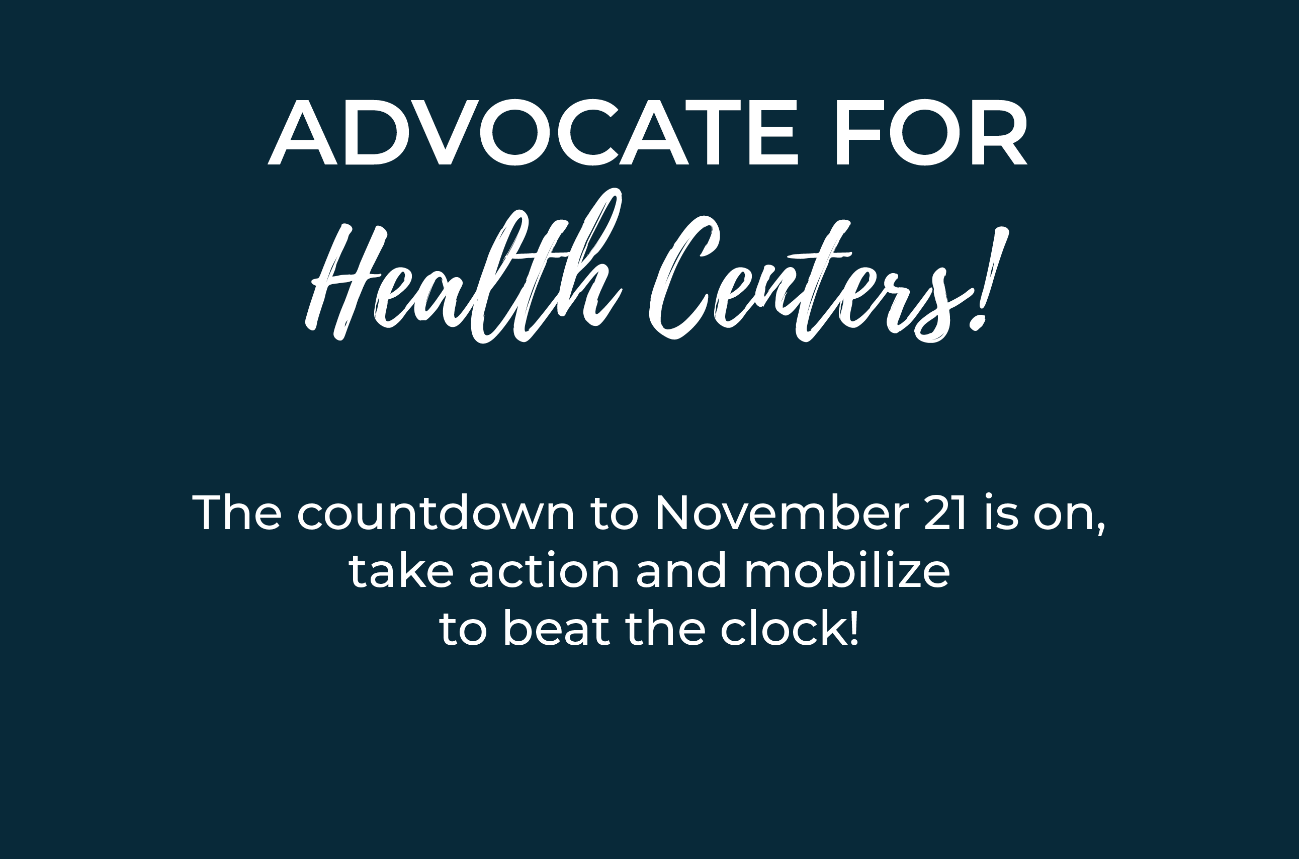 Advocate for Health Centers!