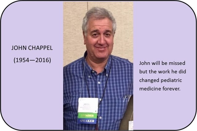 "We are proud to announce the ""John Chappel Award for Compassionate Communication in Pediatrics"""