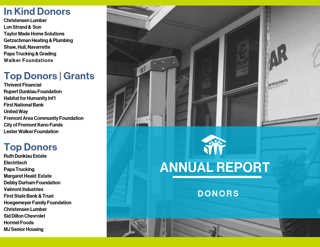Donors 2018