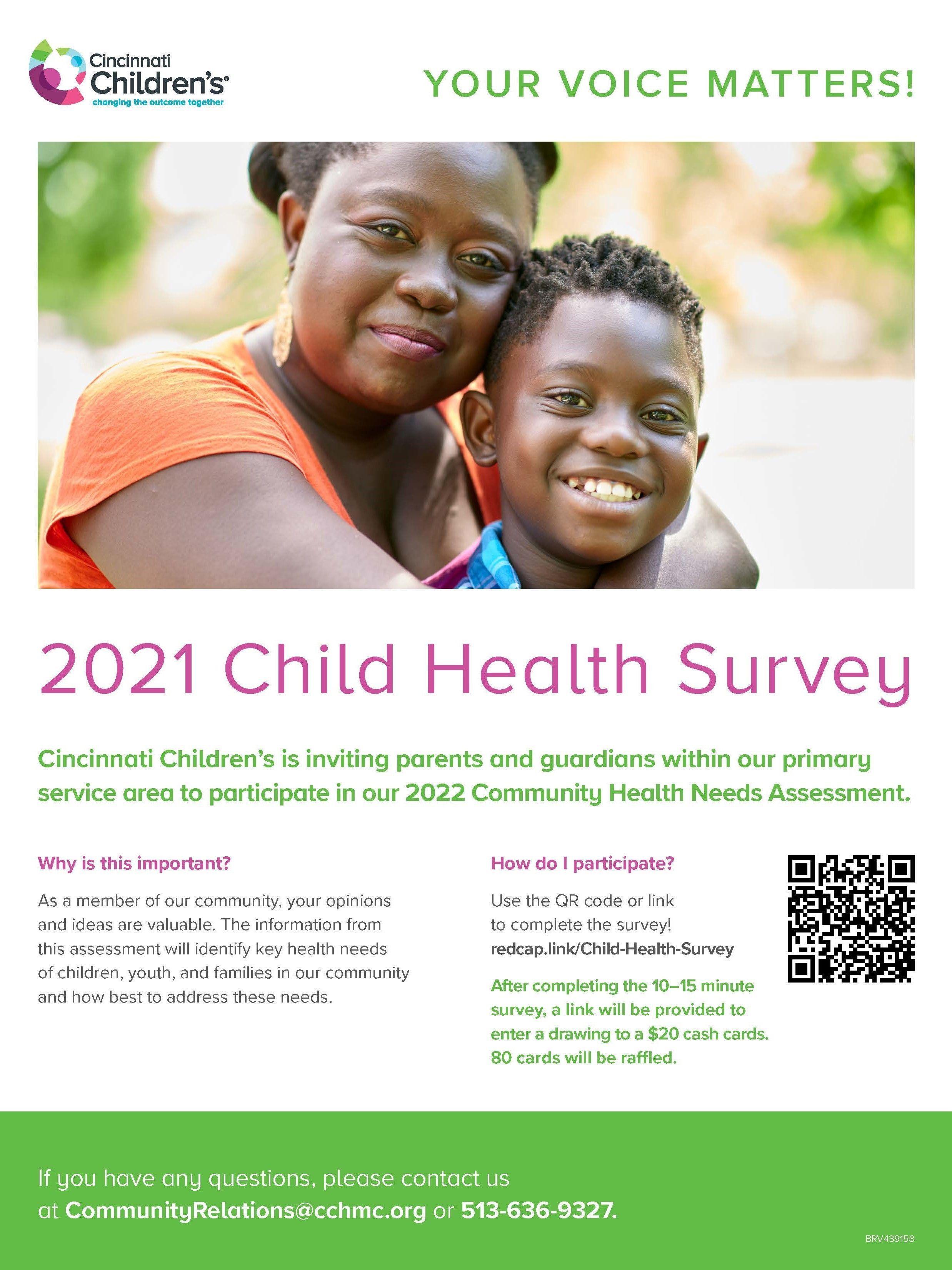 Cincinnati Children's Child Health Survey