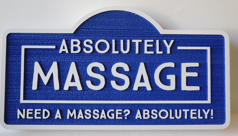 """SA28807 - Carved High-Density-Urethane (HDU)  Sign for the """"Absolutely Message """" Shop"""