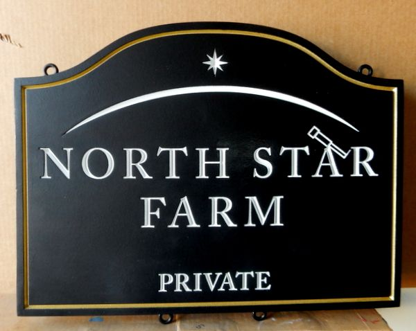 O24034 - Sign for Private Farm, Private Road