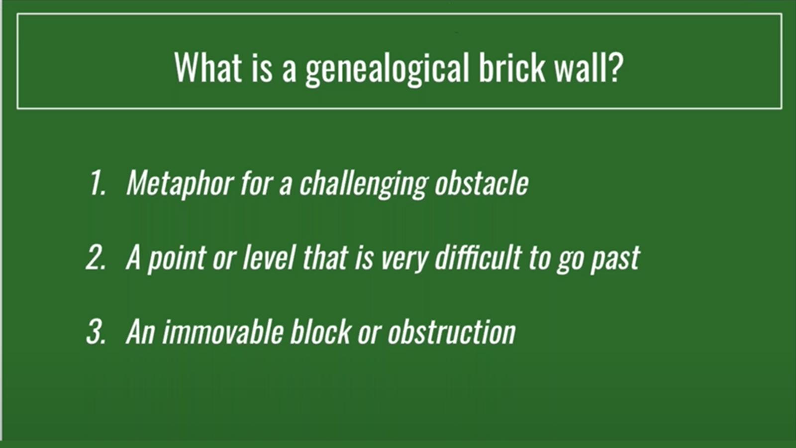 Kentucky Genealogy Brick Wall Brainstorm