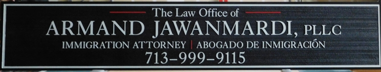 A10492- Carved HDU Sign for Law Offices of Immigration Attorney Abrogado de Immigracion