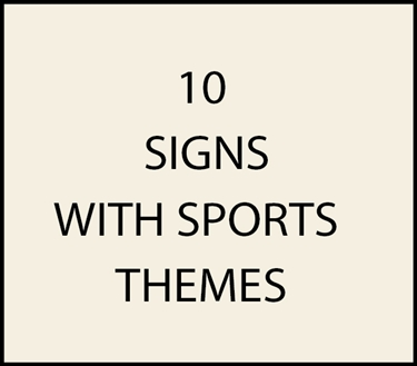 10. - I18650 -  House  Address Signs Sports Themes (Golf, Football, Baseball, Basketball, Soccer)
