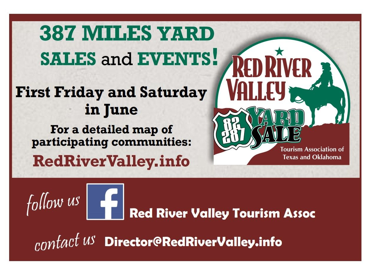 Red River Valley Yard Sale THIS Weekend!
