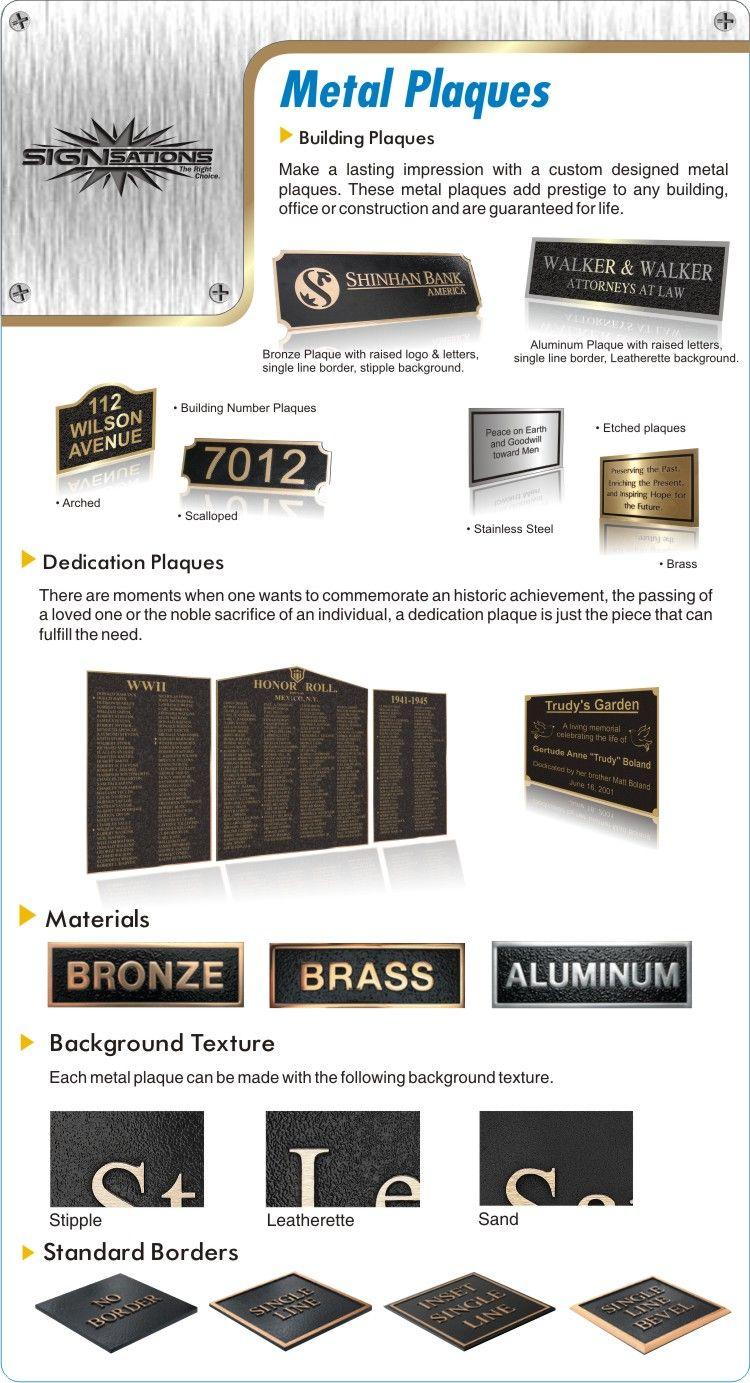 Memorial Plaques, Dedication Plaques, Bronze Plaques