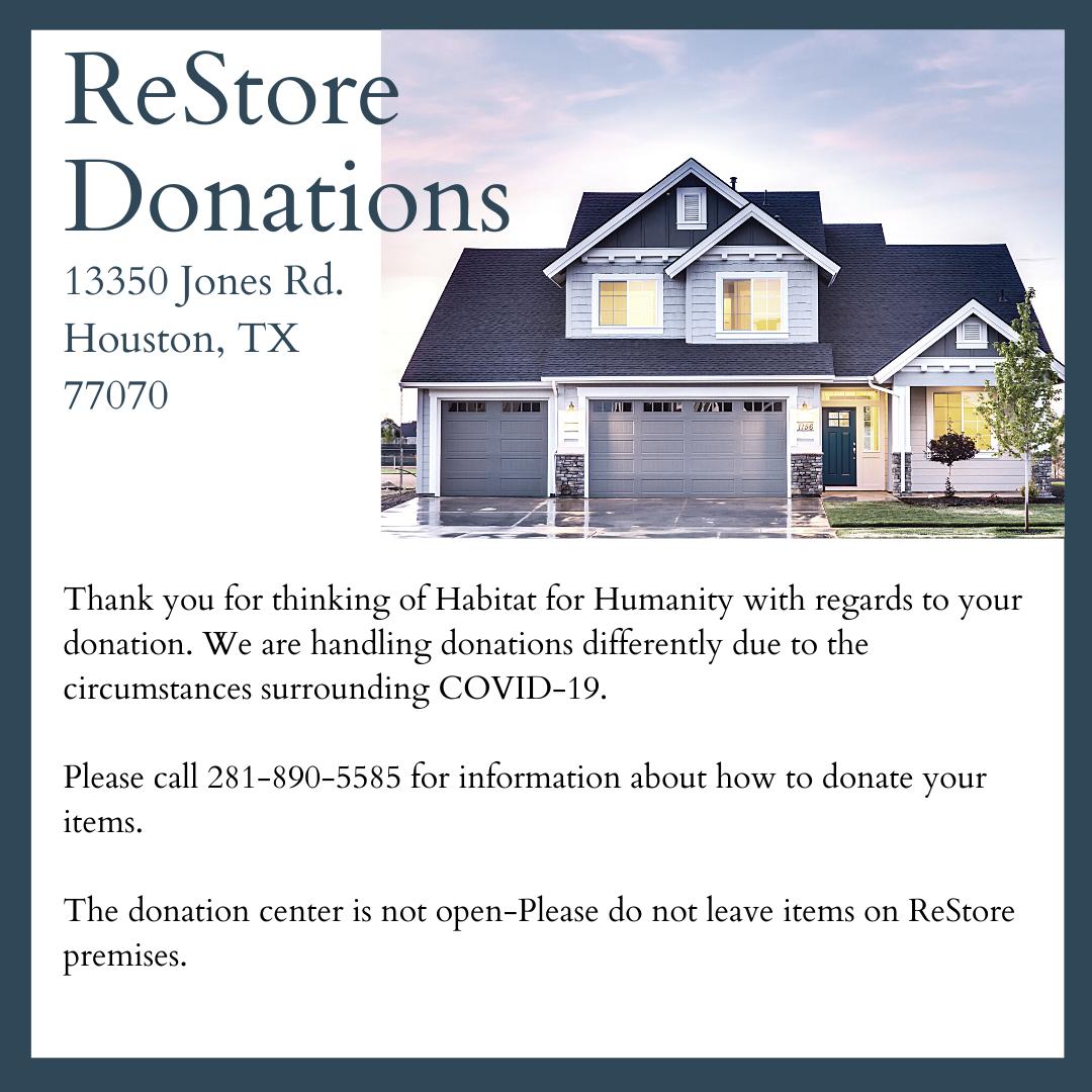 ReStore Donation Update