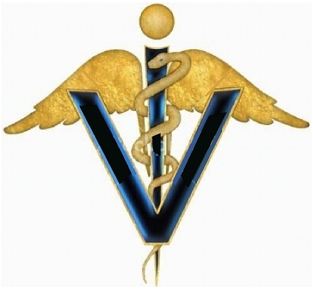 BB11986 - Carved 3D wood Applique of Veterinarian Caduceous Symbol for Veterinarian Signs & Plaques