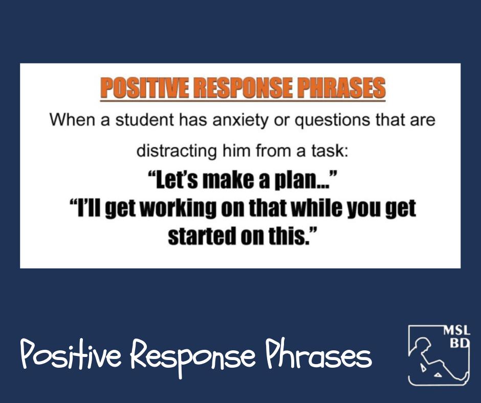 Positive Response Phrases