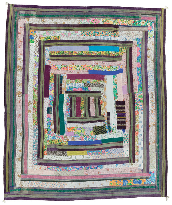 Gudari quilt, made in Solapur, Maharashtra, India, circa 2000, Gift of Geeta Khandelwal, 80.25 x 69.25 in, IQSCM 2009.049.0006