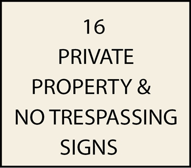 16. - I18960 - Private Property and No Trespassing Signs