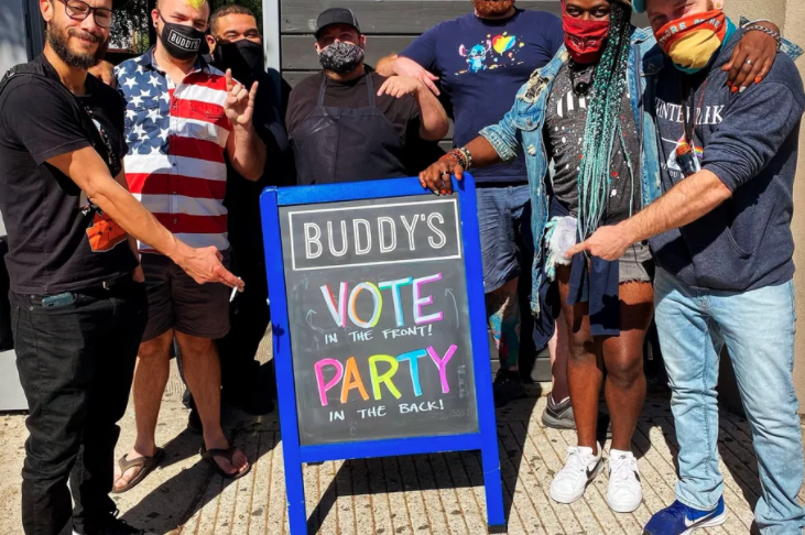 On Election Day, Montrose Icon Buddy's Was the First LGBTQ Bar in Texas to Serve as a Polling Place