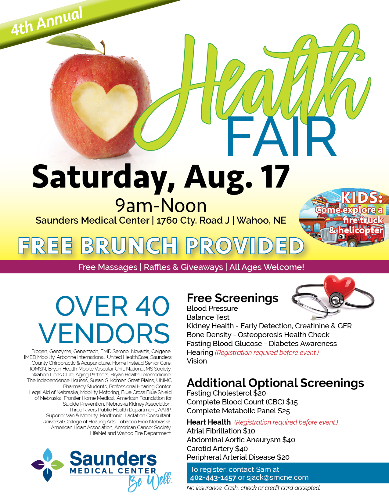 Saunders Medical Center : About Us : Get Involved : Health Fair