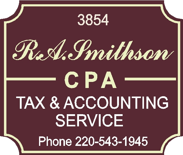C12086 -  Carved HDU Sign for CPA Tax and Accounting Service