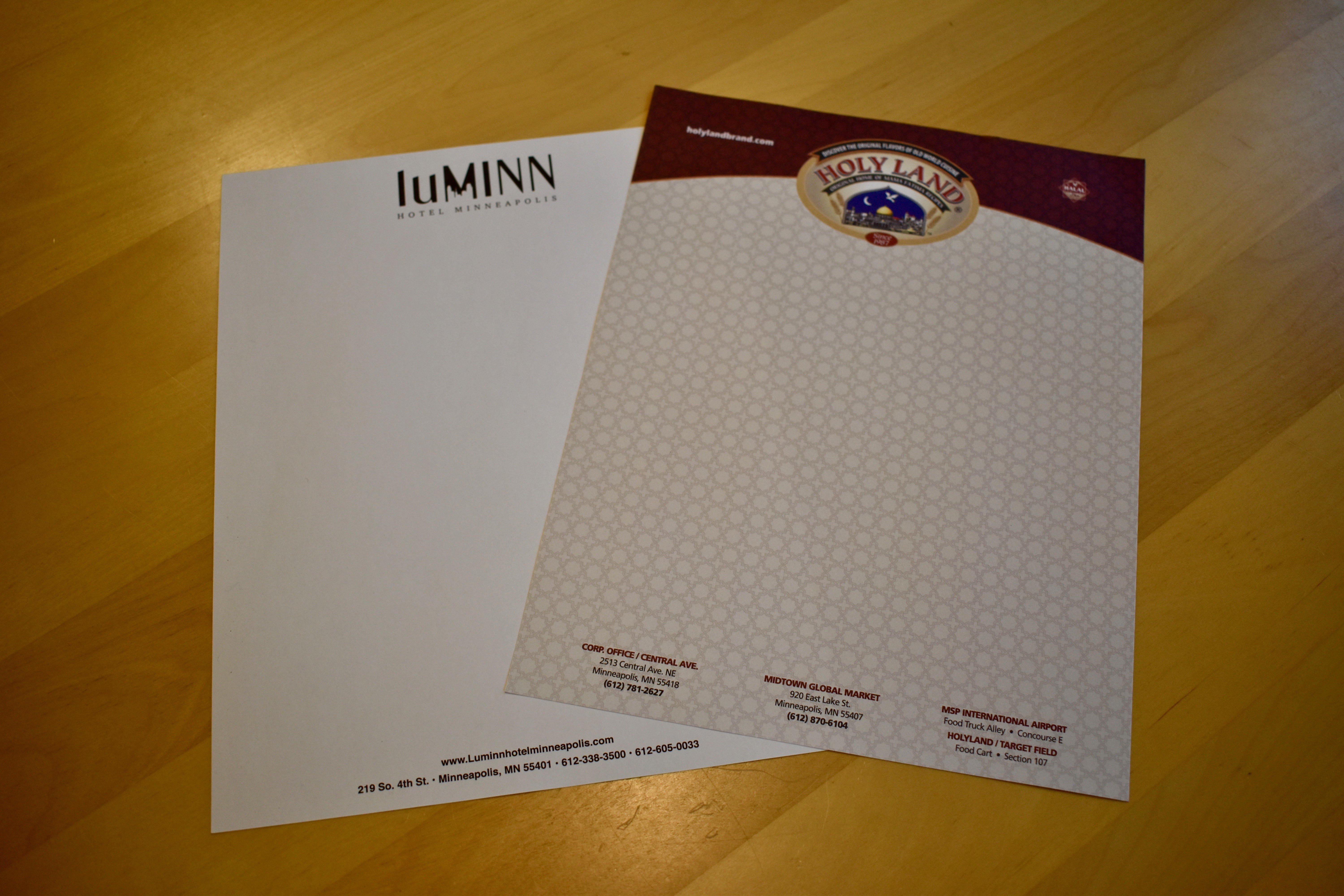 We print letterhead as a part of our corporate identity packages