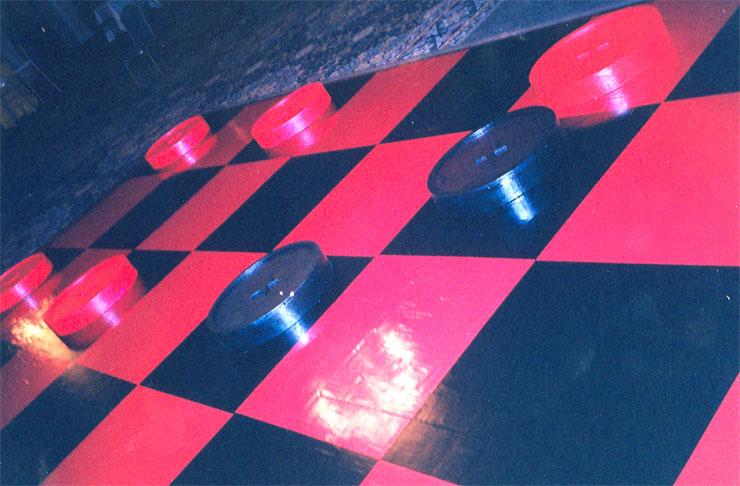 Checkered Board Floor Vinyl