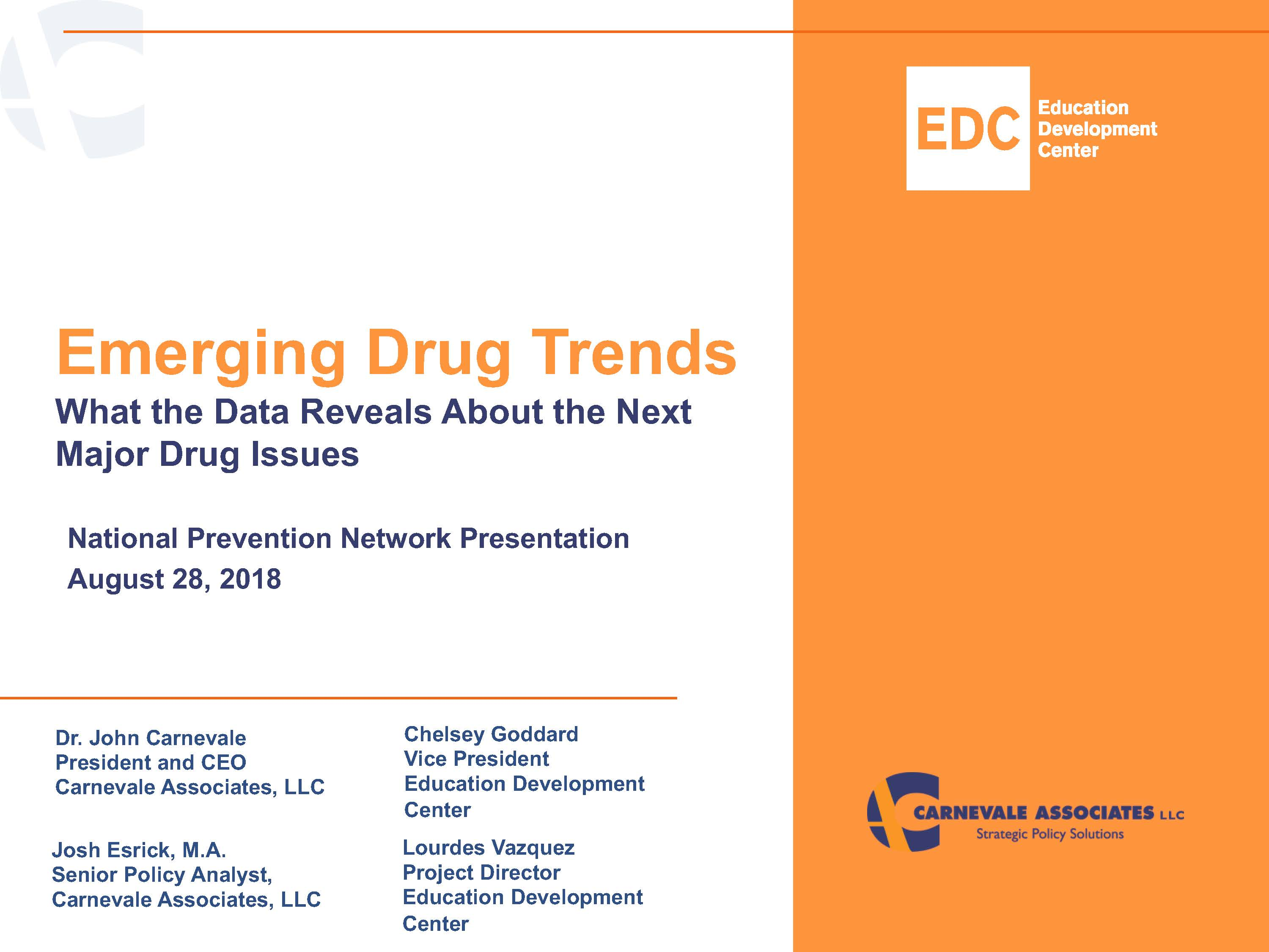 Emerging Drug Trends Presentation: Data & Prevention