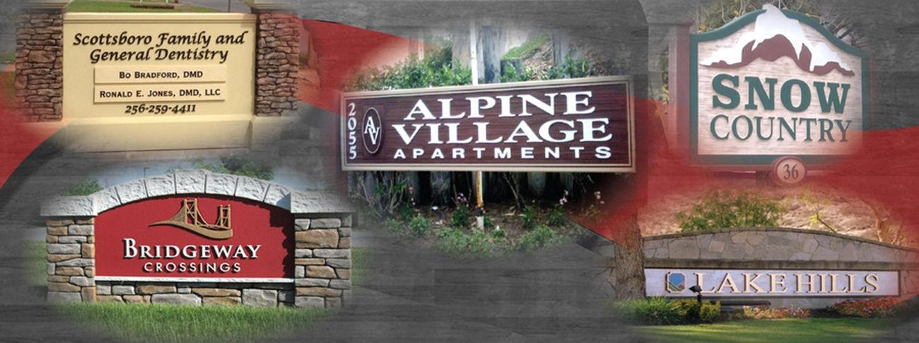 Product Line 6 - Examples of Monument and Large Entrance Signs