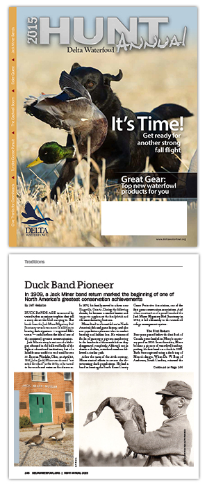 Writer Wins Award for Article in Delta Waterfowl Magazine