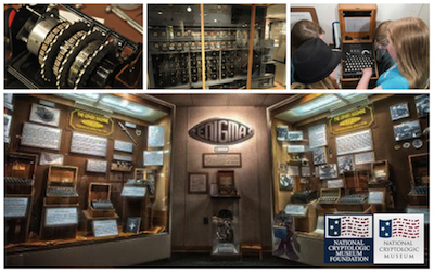 National Cryptologic Museum collage of cryptologic machines