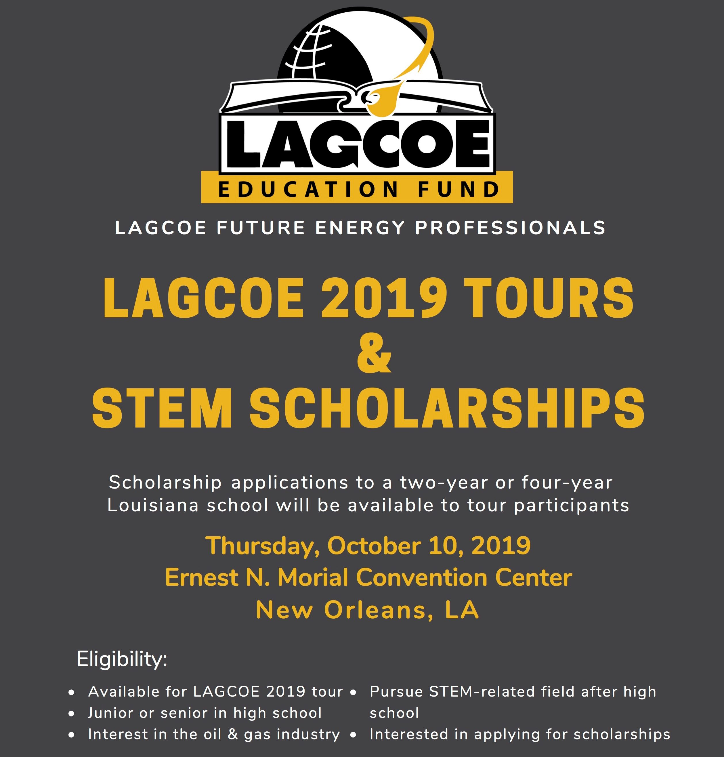 Scholarship Opportunity for High School high school juniors and seniors interested in a STEM future in Energy