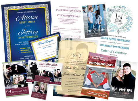 Wedding Invitations, Programs, Save The Date, etc.