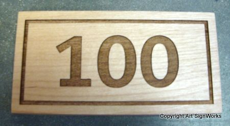 KA20879 - Engraved Wood Address Number Wall Plaque
