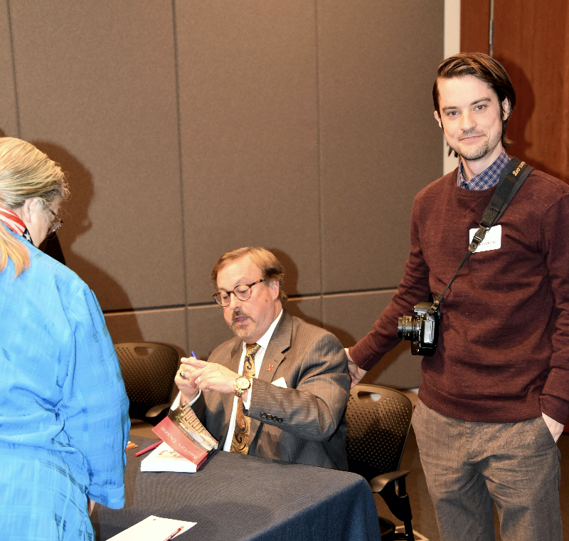 Mr. Estberg busy signing books at 2019 NCMF Spring Program. Rick's son Bob Estberg is nearby with his camera. It was a family affair!
