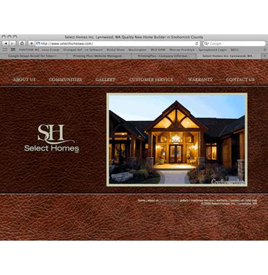 Select Homes Website