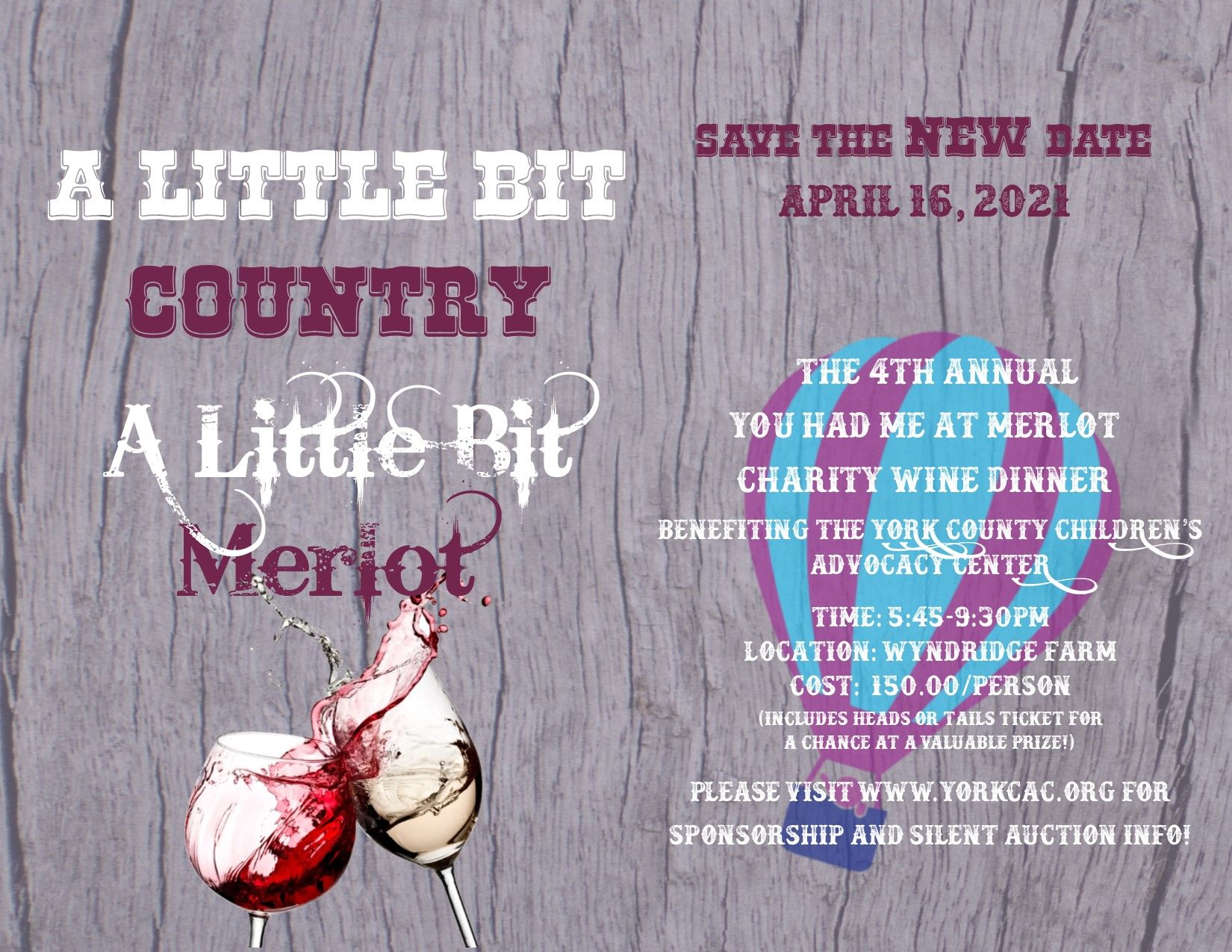 A Little Bit Country, A Little Bit Merlot:  Our 4th Annual Wine Dinner