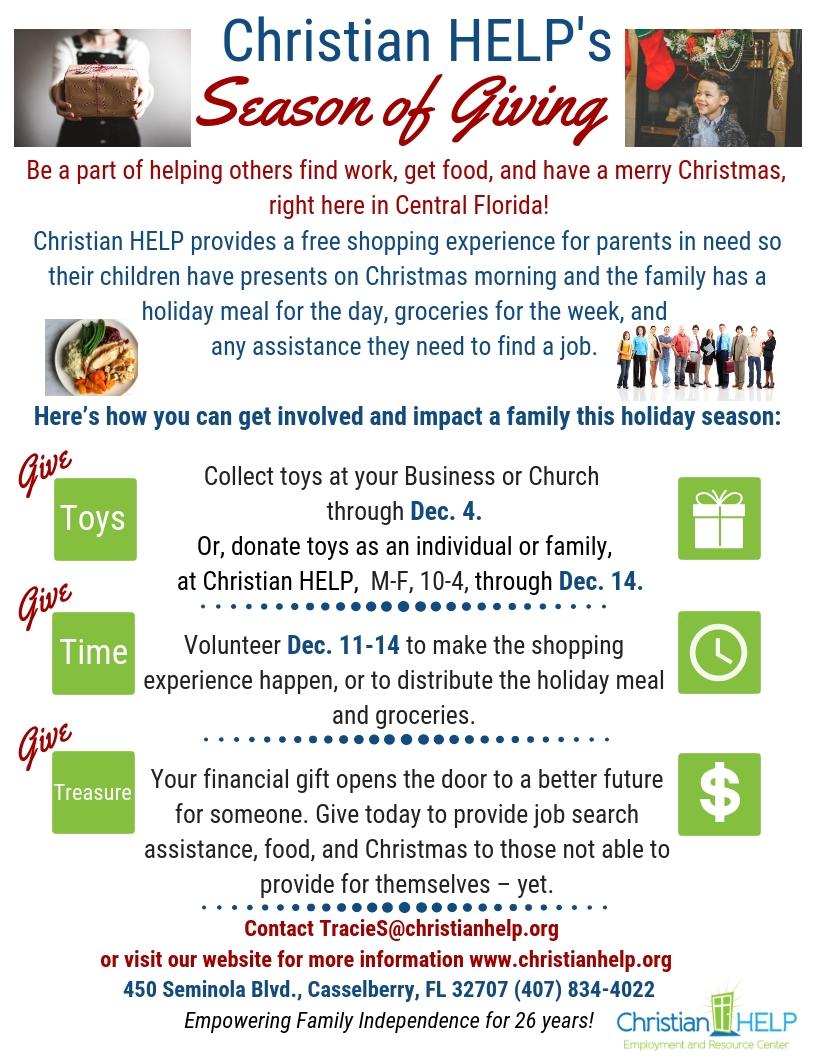 Volunteer at Christmas | Christian HELP