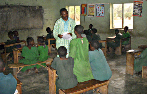 Dr. S. A. Ayeni, Teaching in primary school in Kwara State, Nigeria