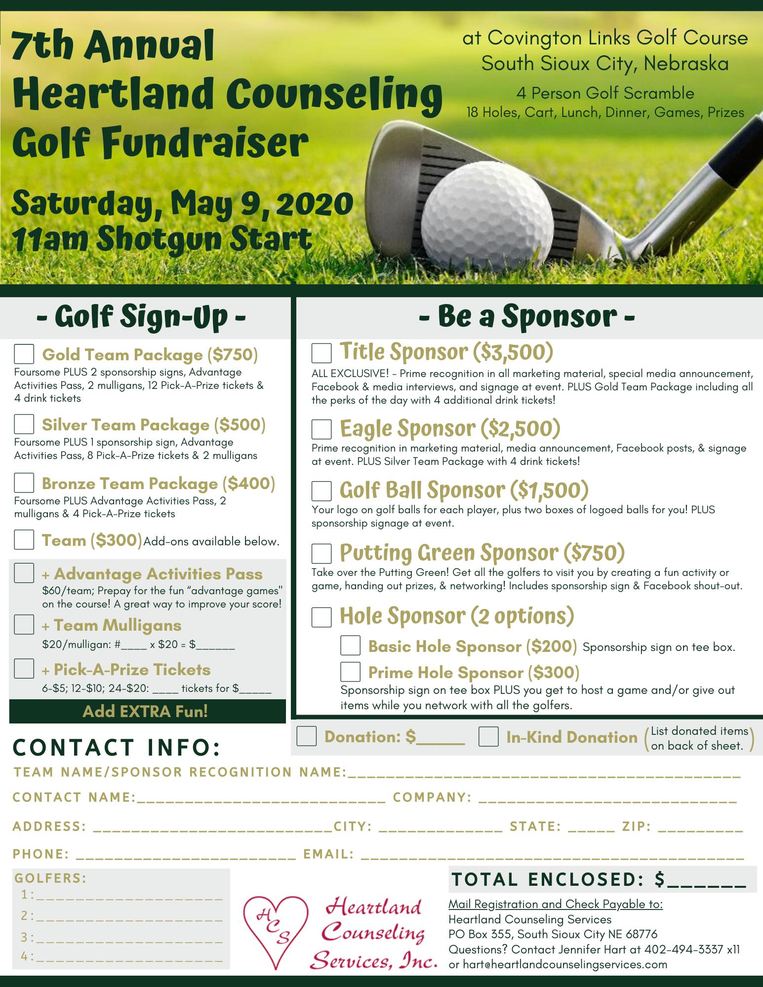 7th Annual Golf Fundraiser