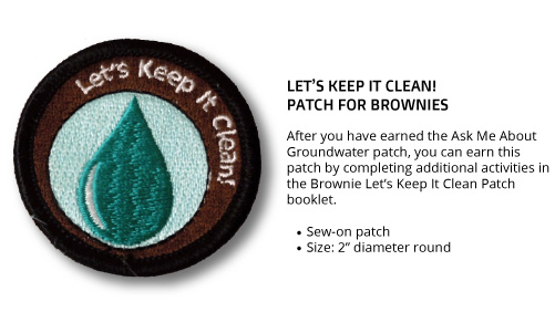 "Brownie ""Let's Keep It Clean"" Patch"