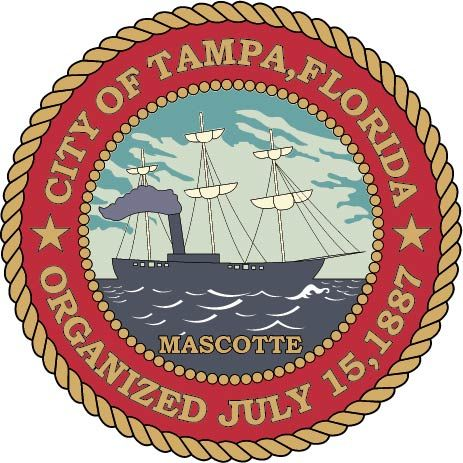 DP-2240 - Plaque of the Seal of the City of Tampa, Florida, Giclee