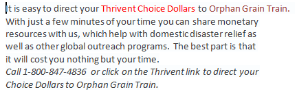 Thrivent Choice Dollars