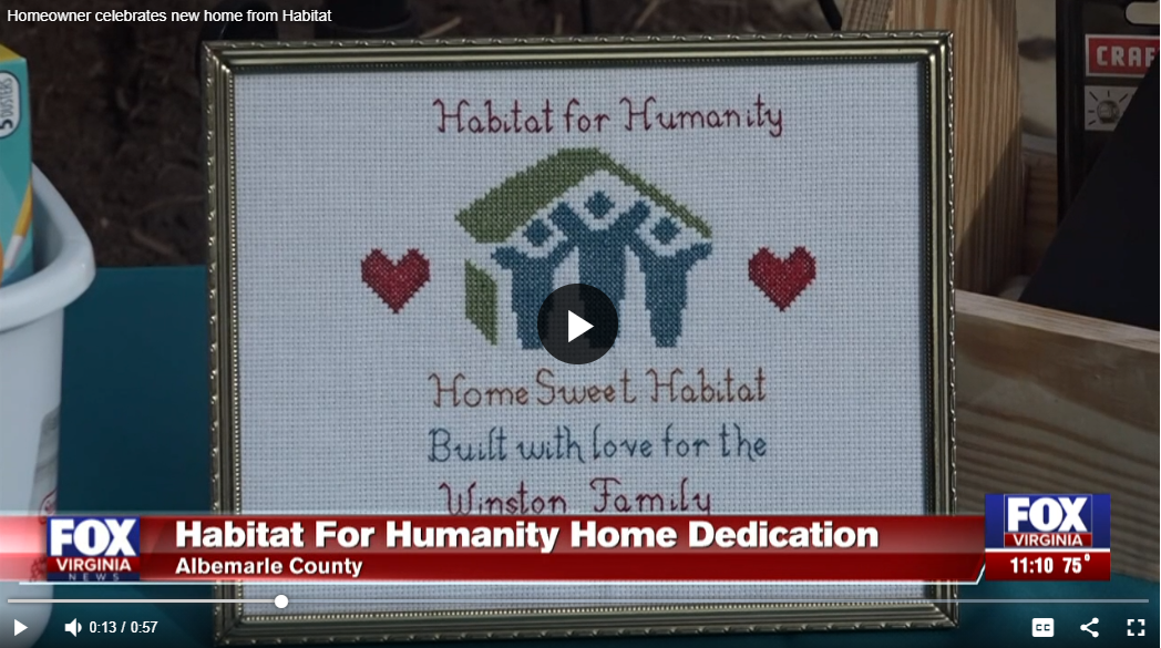 Habitat for Humanity celebrates first time homeowner in Albemarle